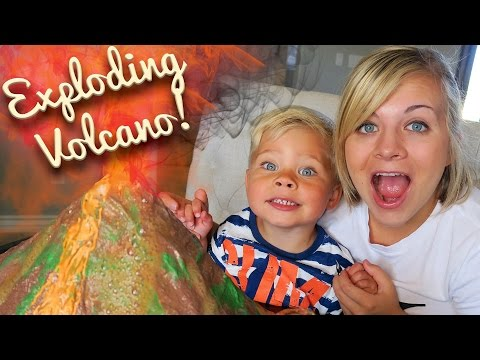 EXPLODING VOLCANO! SCIENCE EXPERIMENT - w/ Ollie