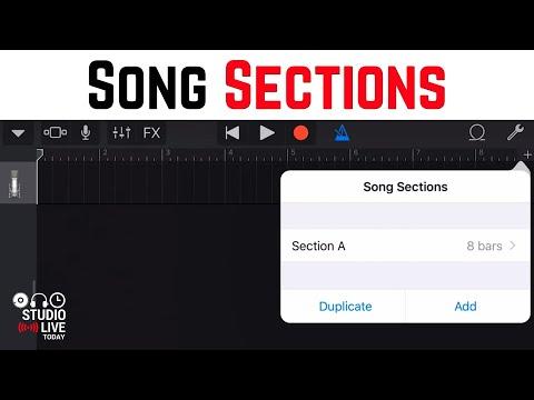 Song Sections in GarageBand iOS - Using Loops (iPhone/iPad)