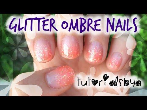 Glitter Ombre Gel Nails Tutorial | TutorialsByA