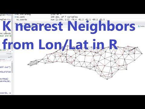 R Spatial Data 2: KNN from Longitude and Latitude