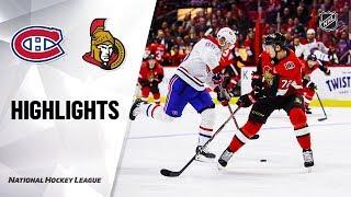 NHL Highlights Canadiens Senators 11120