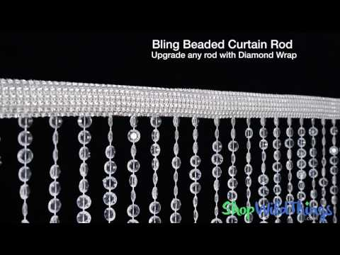 Bling Beaded Curtain Rod  - ShopWildThings