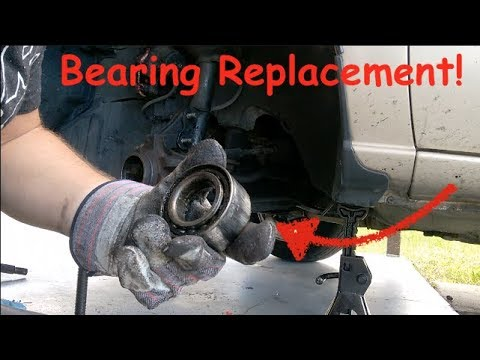Front Wheel Bearing Replacement (1997 Nissan Maxima in video)
