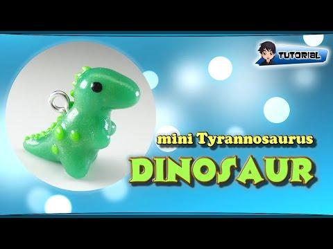 mini Tyrannosaurus (Dinosaur) - Polymer Clay TUTORIAL
