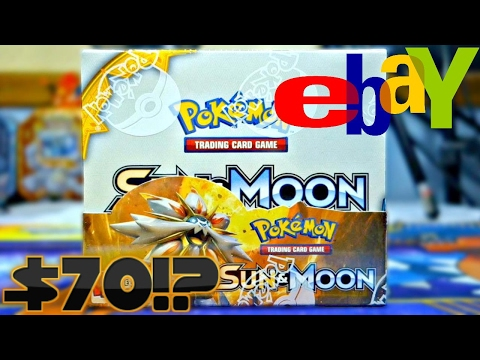 $70 EBAY POKEMON SUN AND MOON BOOSTER BOX OPENING!? CAN WE BREAK EVEN???