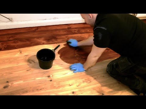 How to Stain a Wooden Floor (pro method for DIY)