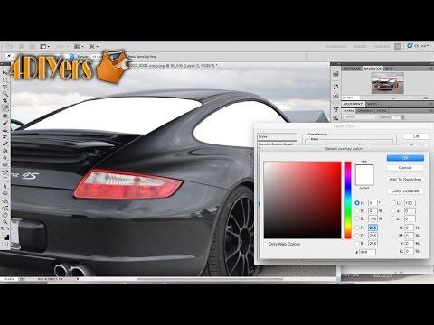 Adobe Photoshop: Removing Window Tint on a Vehicle