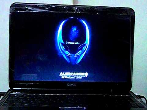customized  windows7 bootup,logon screen and startup sound with alien ware.avi
