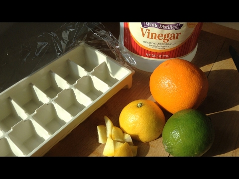 Clean a Smelly Disposal with Citrus & Vinegar Ice-Cubes