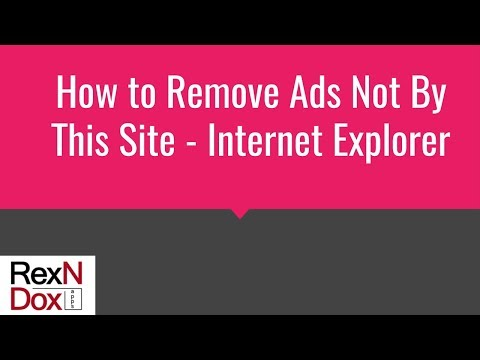 How to remove ads not by this site - Internet Explorer