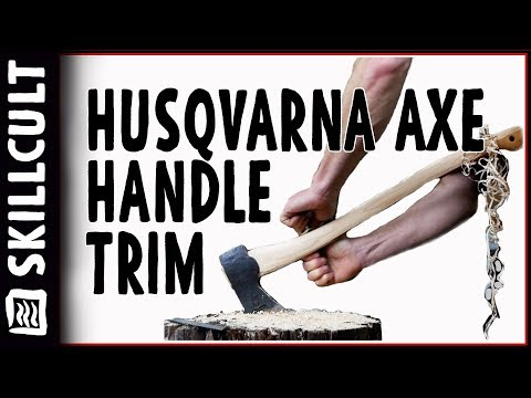 Axe Handle Weight Cut! Husqvarna Forest Axe #5: Thinning w/ Scraping and Rasping