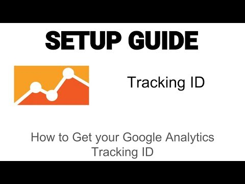 How to get your Tracking ID from Google Analytics