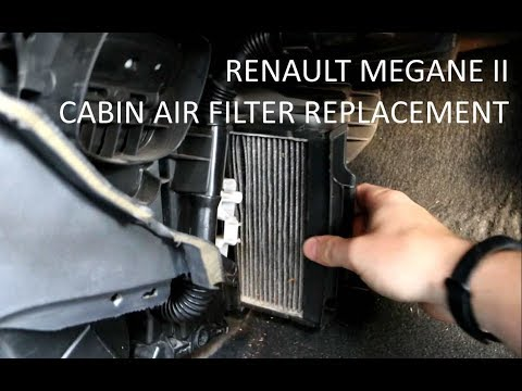 How to replace Renault Megane 2 cabin air filter