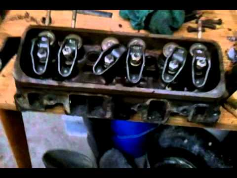 Cleaning boat engine.