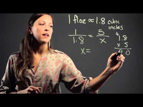 How to Convert Fluid Ounces to Cubic Inches : Math Education
