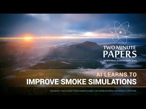 AI Learns To Improve Smoke Simulations | Two Minute Papers #188