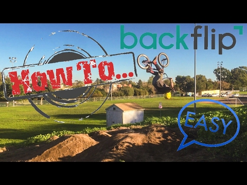 How to Backflip on a bike (BMX) ✔️