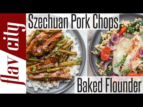 Plated Meal Kit Review - Sticky Pork Chops & Fennel Chile Flounder