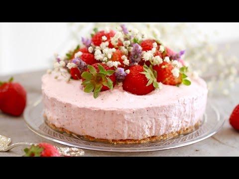 No-Bake Strawberry Cheesecake - Gemma's Bigger Bolder Baking Ep  125
