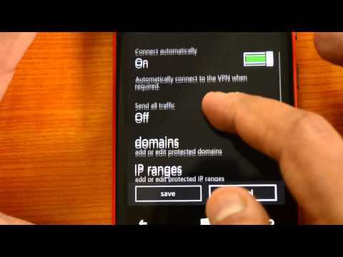 VPN on Windows Phone 8.1