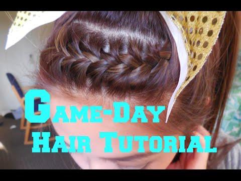 Easy School Spirit Hair Tutorial: easy french braid ponytail!