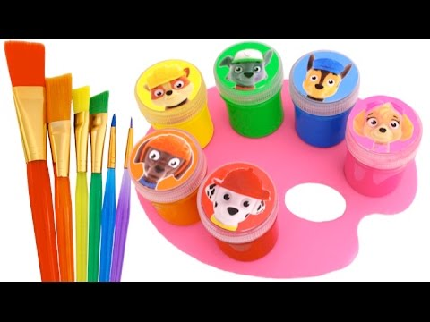Best Learning Colors Video for Children with Crayons Paw Patrol Mickey Mouse RL