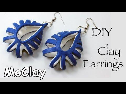 DIY polymer clay earrings tutorial