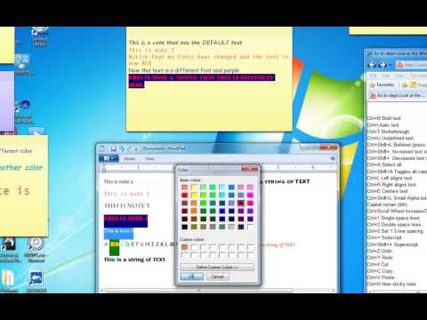 StickyNotes - How To Change FONTS and FONT COLORS