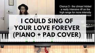 I COULD SING OF YOUR LOVE FOREVER   Piano + Pad Cover   Worship Keyboard Tutorial