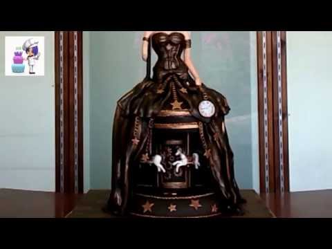 Steampunk Gravity Cake with motion