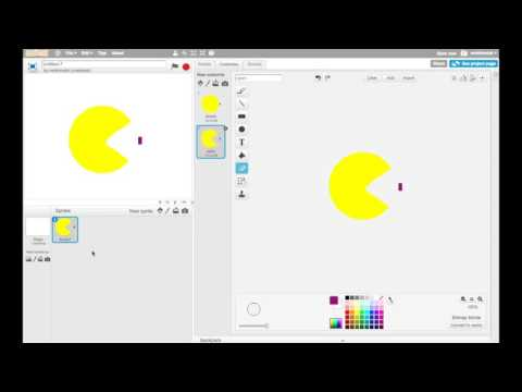 Making Games in Scratch - PacMan - Part 2: Making the PacMan sprite