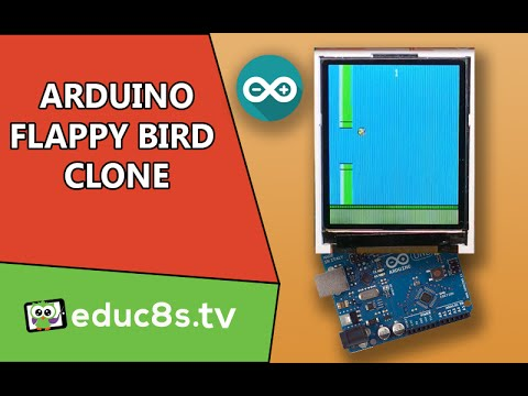 Arduino Game Project: Flappy Bird game Clone with a 1.8
