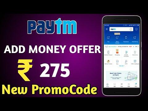 Paytm Add money  paytm New Promocode 2018 || ₹275 Paytm new Promocode || technical Ravi
