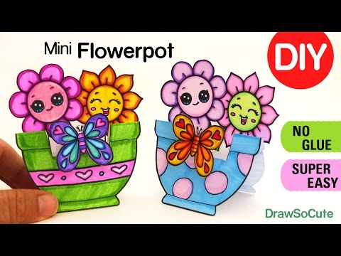 How to Make a Mini Paper Flower Pot -DIY Fun Craft