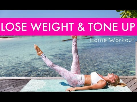How to Lose Weight & Tone Up - HOME WORKOUT | Rebecca Louise