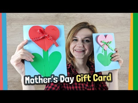 Mother's Day gift card craft idea for kids