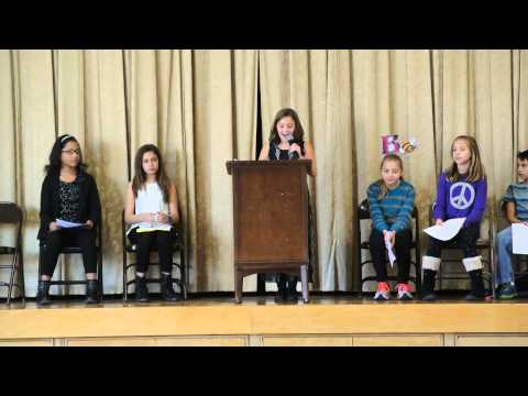 Adrianna's 5th grade Student Council Election