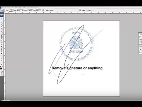how to remove signature on a stamp use Photoshop easily tutorial