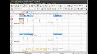 OpenOffice Calc 4 Tutorial 4 - Formulas And Calculations