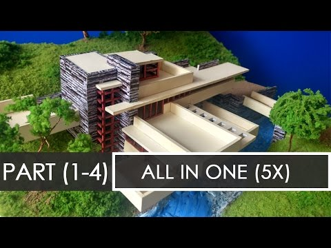 ALL PARTS (5x) | How to make a model of Falling waters | Architecture Model Making