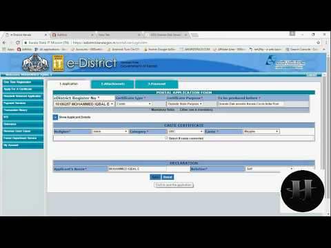 How to apply for cast certificate using edistrict website kerala Gov - Edistrict Part 6