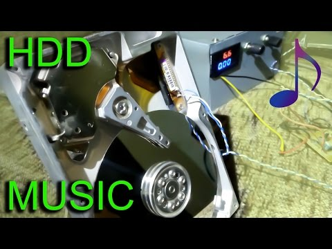 DIY Speker from an old Hard Disc Drive (HDD playing Music) / Crazy trick ✔