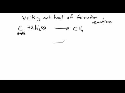 Heat of Formation Example