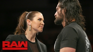 Stephanie McMahon has some news for Seth Rollins: Raw, Jan. 30, 2017