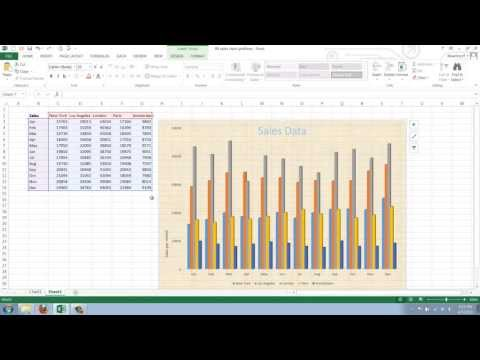 How to Change the Background of an Excel 2013 Chart