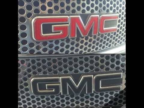 how to change emblems on a GMC denali