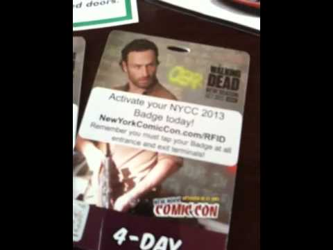 New York Comic Con Tickets arrive!