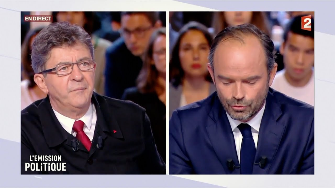 Jean-Luc Mélenchon face à Édouard Philippe dans L'Émission politique