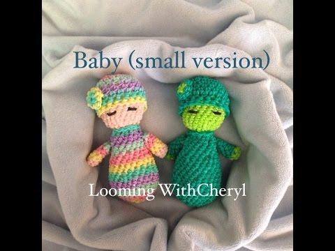 Rainbow Loom Baby Doll (small version) Loomigurumi - Hook Only Лумигуруми