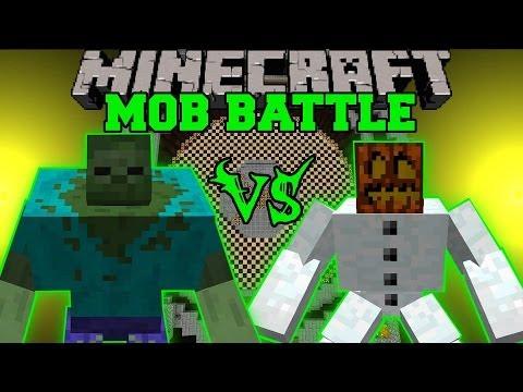 MUTANT SNOW GOLEM VS MUTANT ZOMBIE - Minecraft Mob Battles - Mutant Creatures Mods